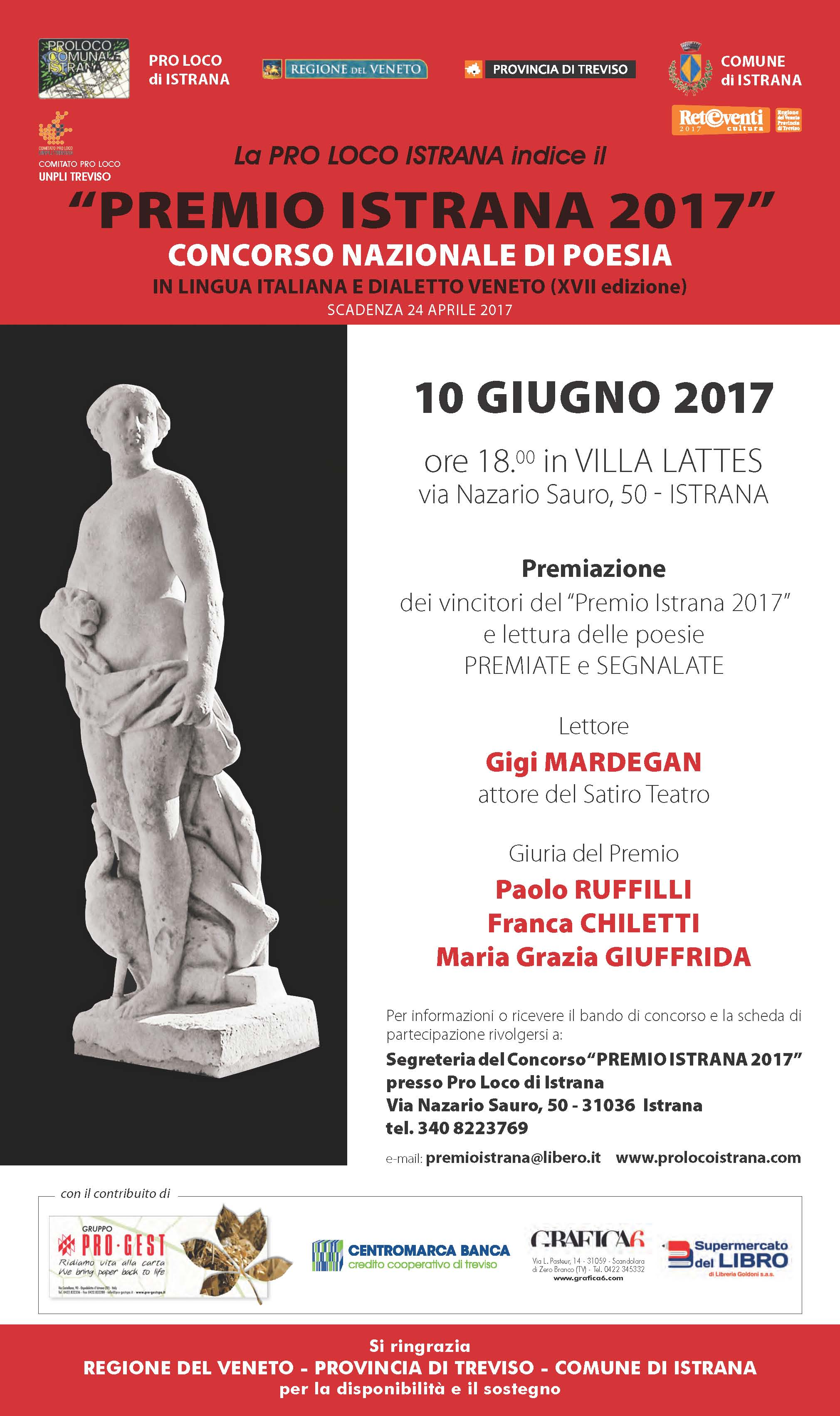 Célèbre Premio Istrana 2017 - Concorso nazionale di poesia in lingua  AK47
